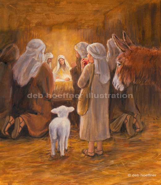 children's book nativity lamb of Jesus Christ