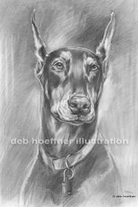 deb hoeffner dog portrait artist