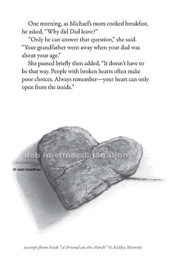 Stone Heart Drawing Deb Hoeffner Illustration